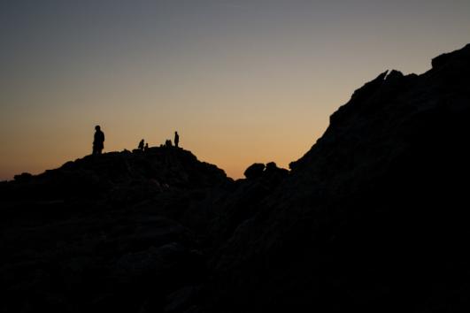 Aspettando l'alba a Punta La Marmora